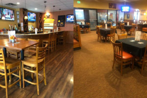 Our redesigned indoor dining area is safe and spacious.